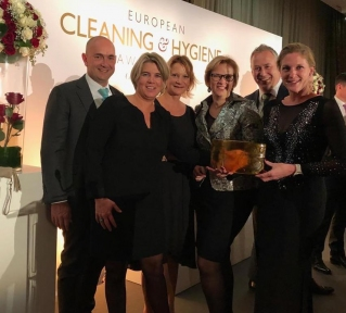 Beeld CSU wint European Cleaning and Hygiene Award
