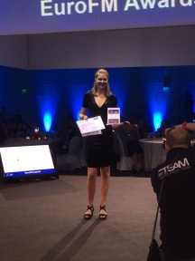 Beeld Heleen Arends wint EuroFM European Student Competition
